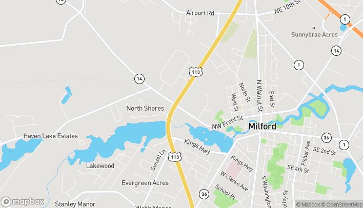 Mapa de 614 N Dupont Blvd en Milford