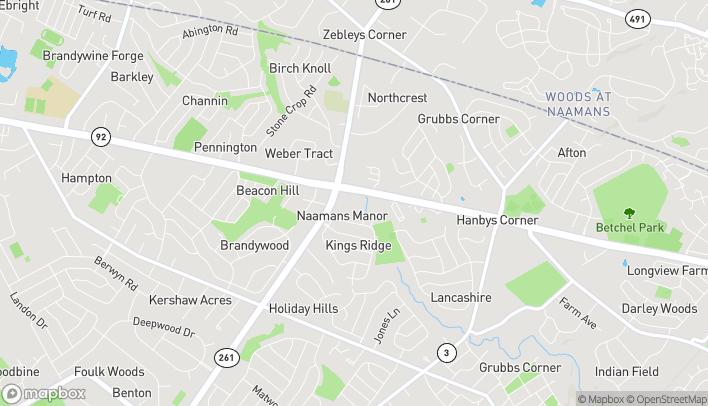 Map of 2090 Naamans Rd in Wilmington