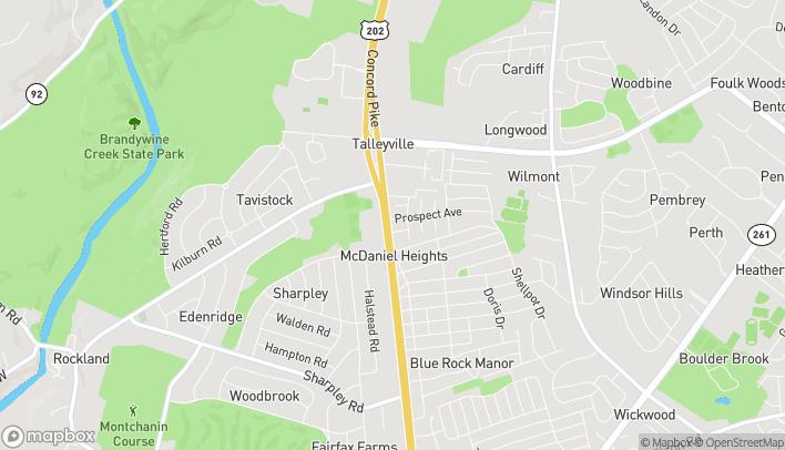 Mapa de 3601 Concord Pike en Wilmington