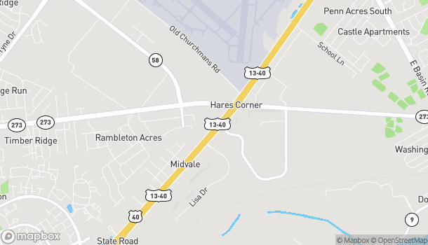Map of 115 S Dupont Hwy in New Castle