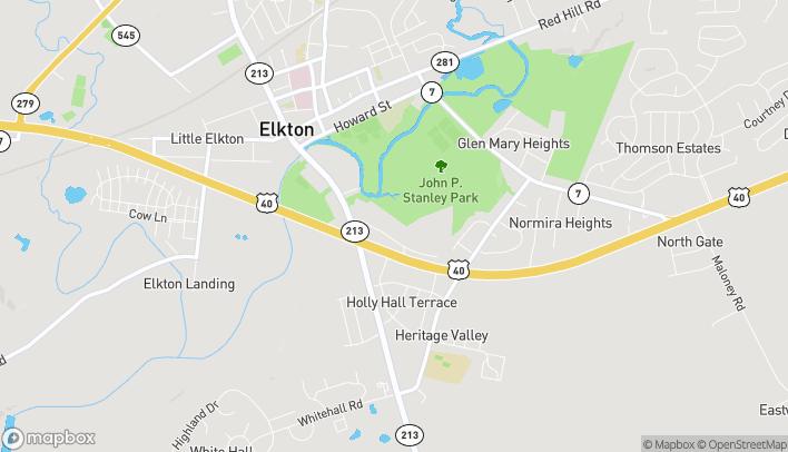 Mapa de 115A Big Elk Mall en Elkton