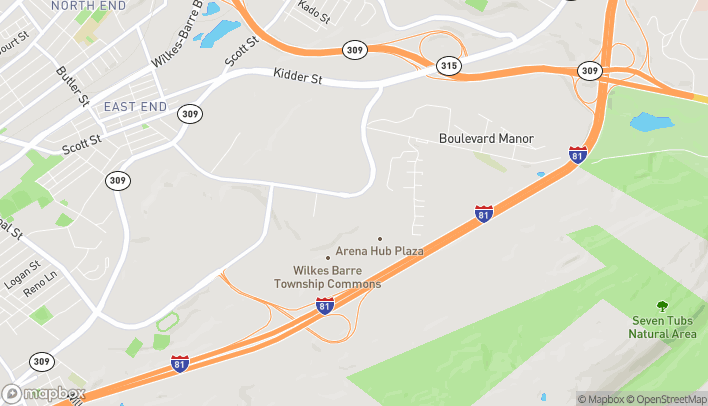 Map of 277 Mundy St in Wilkes Barre