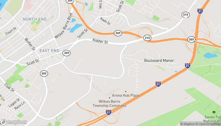 Map of 68 Wyoming Valley Mall in Wilkes Barre