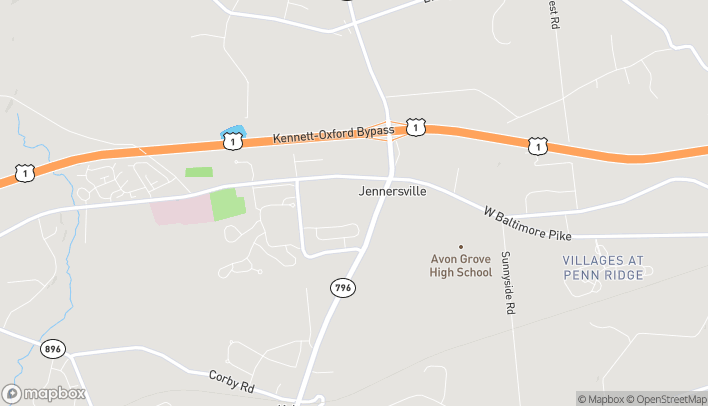 Map of 839 W Baltimore Pike in West Grove