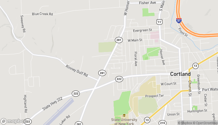 Map of 4066 West Rd in Cortland