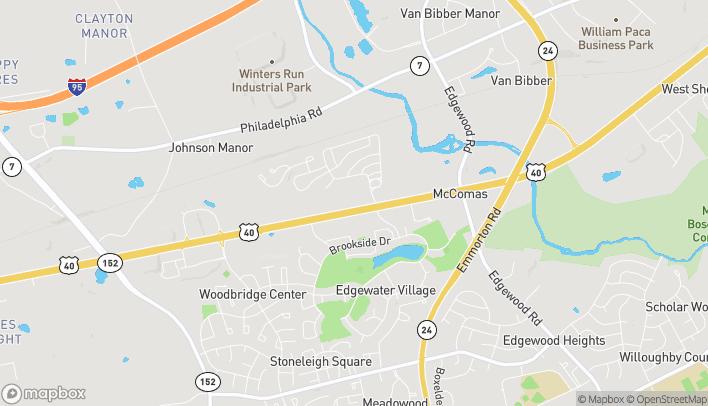 Mapa de 1928 Pulaski Hwy en Edgewood