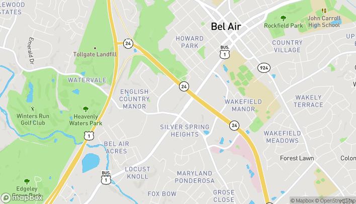 Map of 696 Bel Air Road in Bel Air