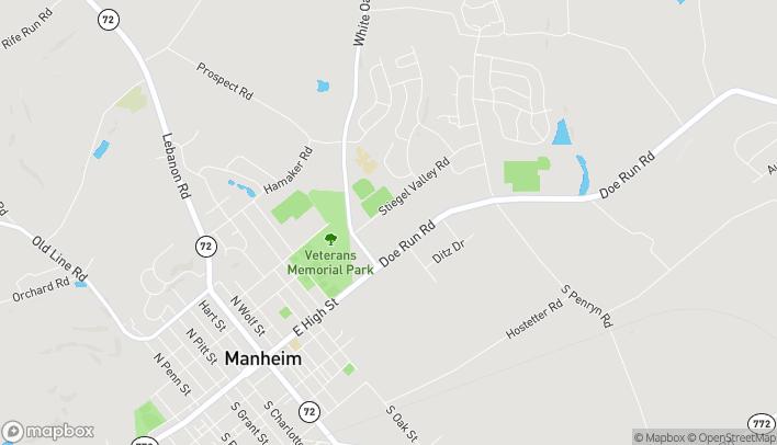 Map of 95 Doe Run Road in Manheim