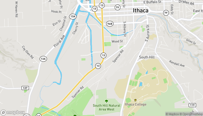 Map of 748 South Meadow St in Ithaca
