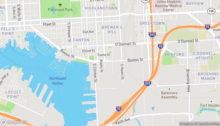 Map of 3711 Boston Street in Baltimore
