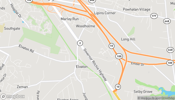 Map of 8131-A Ritchie Highway in Pasadena
