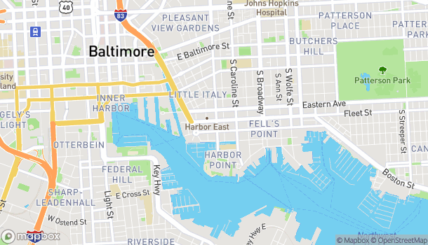 Map of 1001 Fleet St in Baltimore