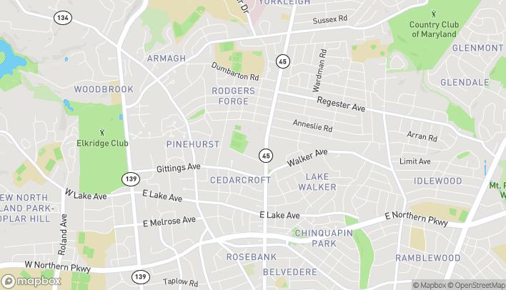 Mapa de 6346 York Rd en Baltimore