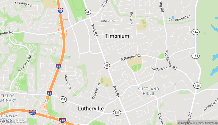 Map of 1803 York Road in Lutherville