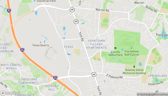 Mapa de 10000 York Rd en Cockeysville