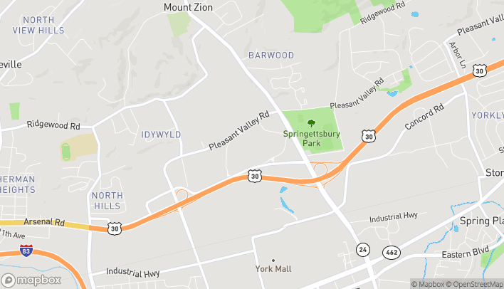Map of 2899 Whiteford Road in York