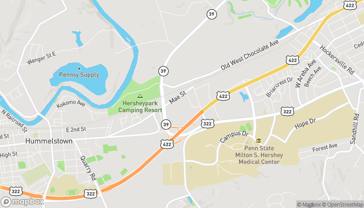 Map of 1136 Mae St in Hummelstown