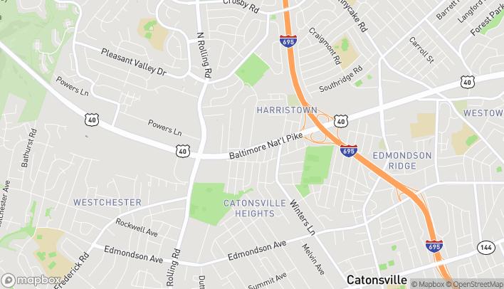 Mapa de 6038 Baltimore National Pike en Catonsville