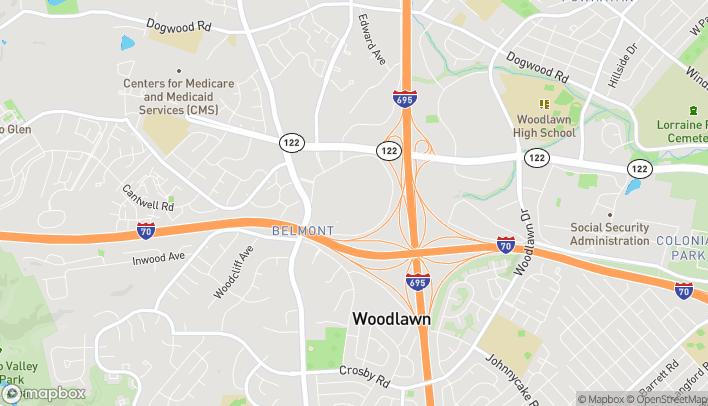 Mapa de 6901 Security Blvd en Baltimore