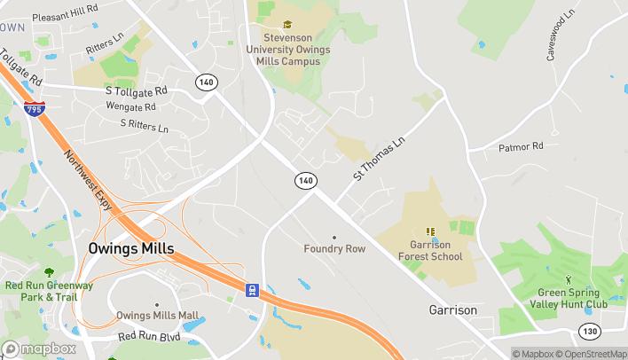 Mapa de 10215 Reisterstown Rd en Owings Mills