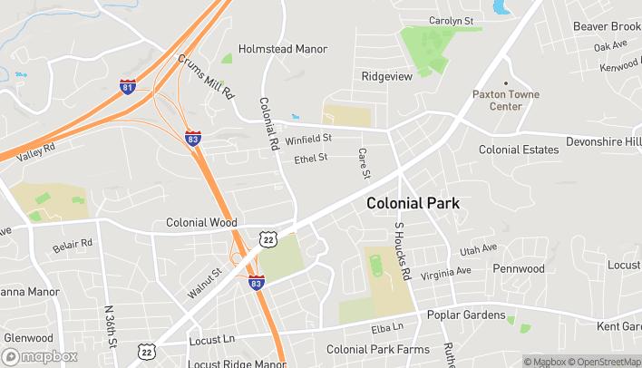 Map of 4600 Jonestown Rd in Harrisburg