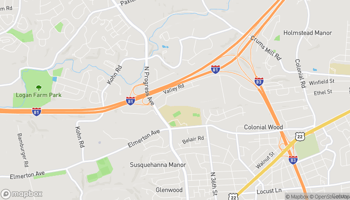 Map of 2545 Brindle Dr in Harrisburg