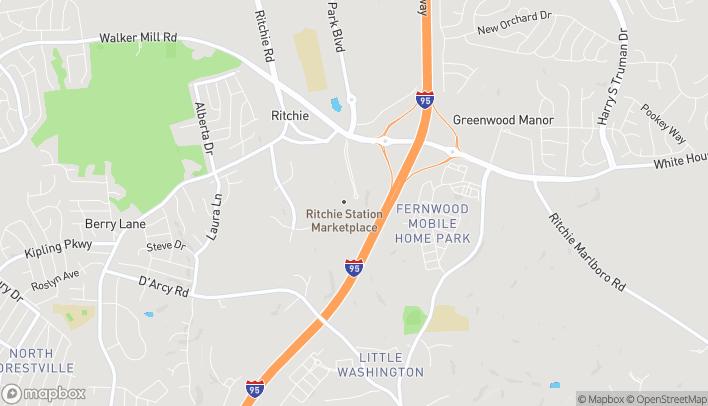 Mapa de 1801 Ritchie Station Ct en Capitol Heights