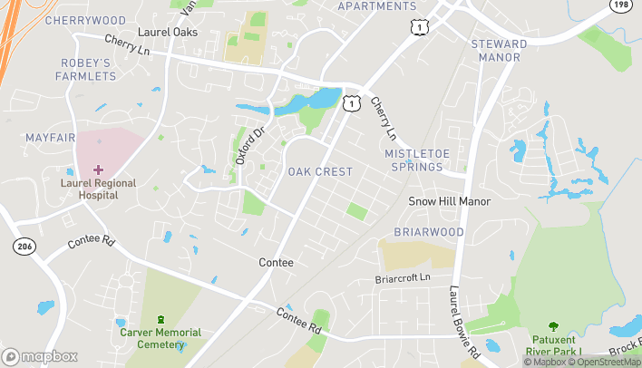 Map of 14201 Baltimore Ave in Laurel
