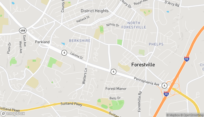 Map of 3393 Donnell Dr in Forestville