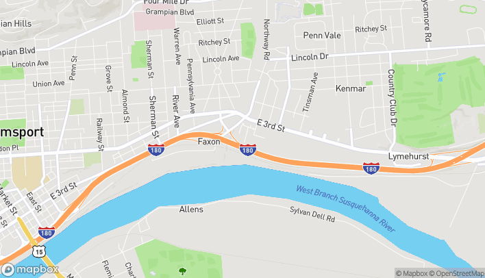 Map of 26 Liberty Ln in Williamsport