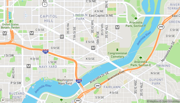 Map of 1391 Pennsylvania Ave SE in Washington