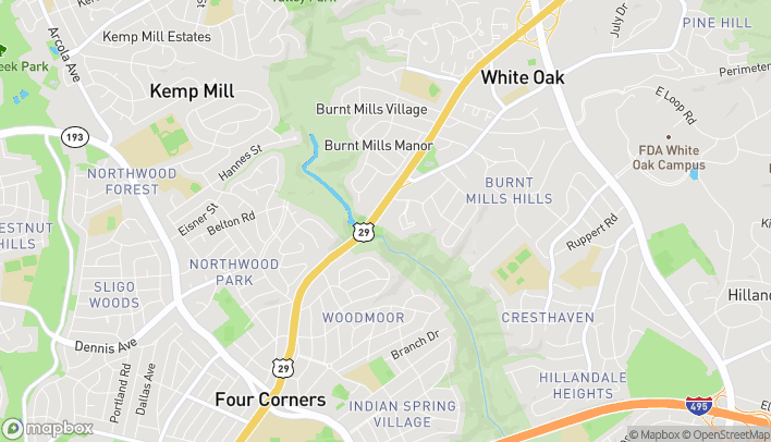 Map of 10729 Columbia Pike in Silver Spring