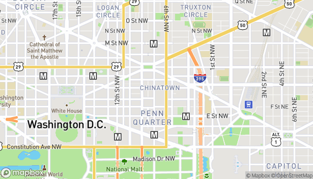 Map of 785 7th Street NW in Washington