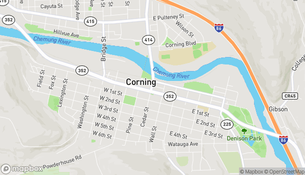 Map of 52 East Market St in Corning