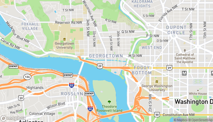 Map of 1057 Wisconsin Avenue NW in Washington