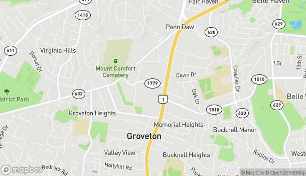 Map of 6674 Richmond Highway in Alexandria