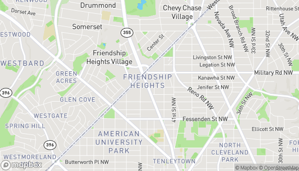 Map of 5301 Wisconsin Ave NW in Washington