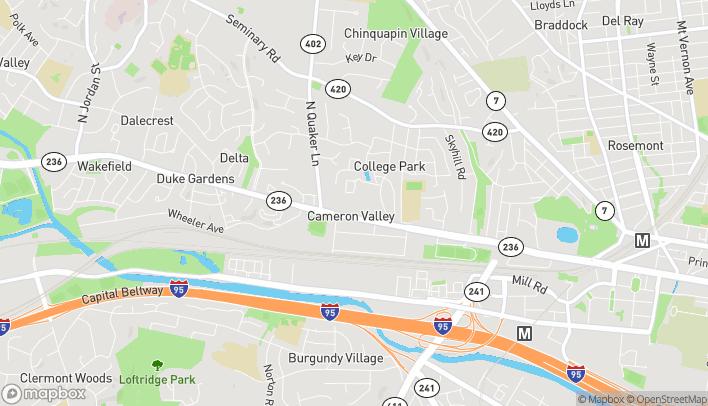 Map of 3165 Duke St in Alexandria