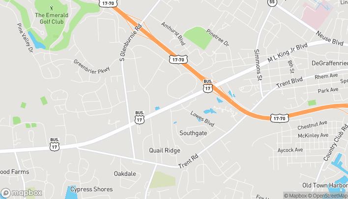 Mapa de 3194 Dr Martin Luther King Jr Blvd en New Bern