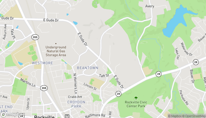 Map of 1304 E Gude Dr in Rockville