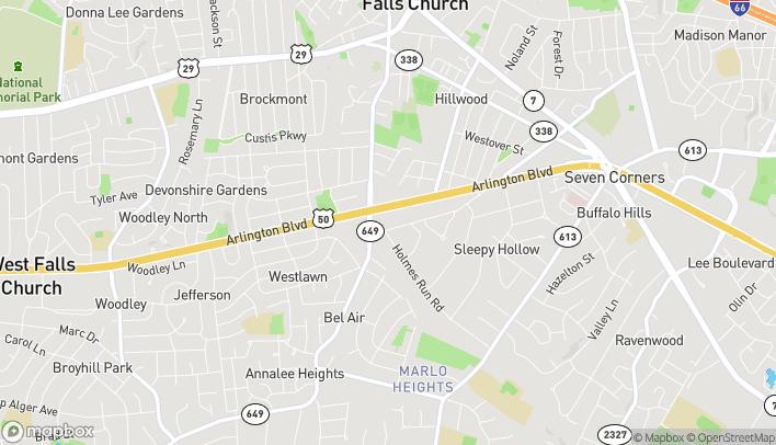 Map of 6645 Arlington Blvd in Falls Church