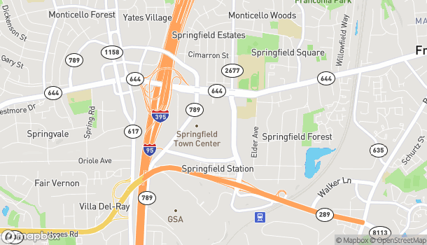 Map of 6765 Springfield Mall in Springfield