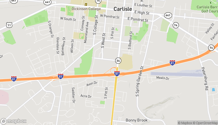 Map of 40 Noble Blvd in Carlisle