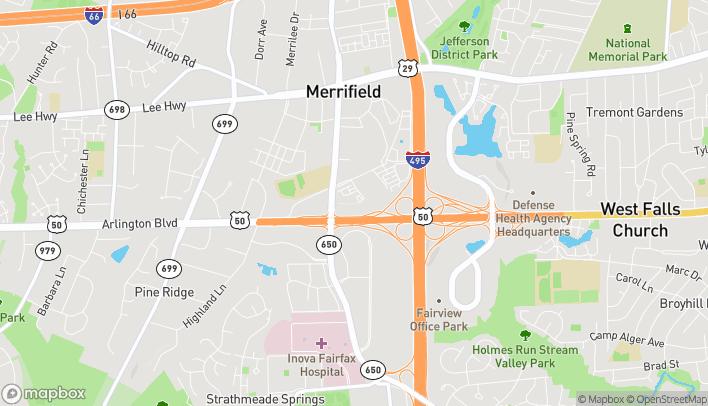 Map of 8110-B Arlington Blvd in Falls Church