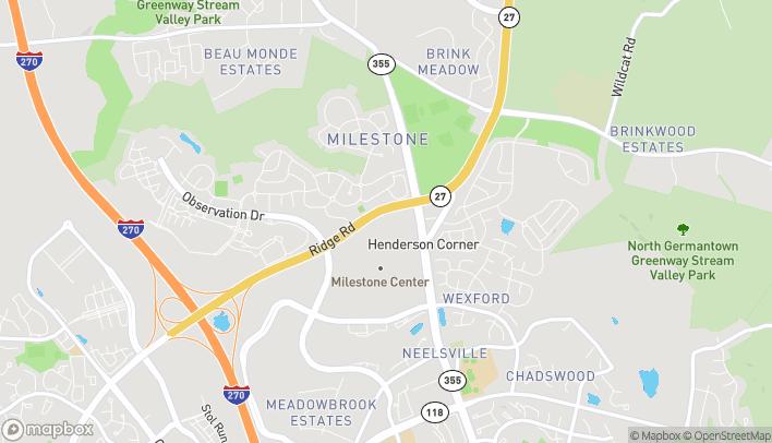 Mapa de 20934 Frederick Rd en Germantown