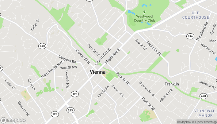 Map of 211 E Maple Ave in Vienna