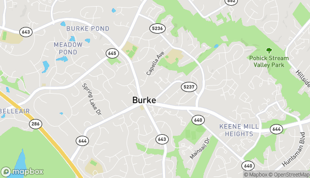 Map of 9542 Old Keene Mill Rd in Burke