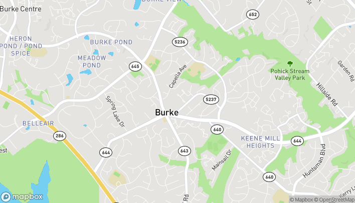 Map of 9542 Old Keene Mill Rd in Burke