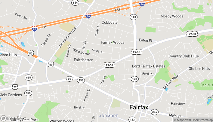 Map of 10750 Lee Hwy in Fairfax
