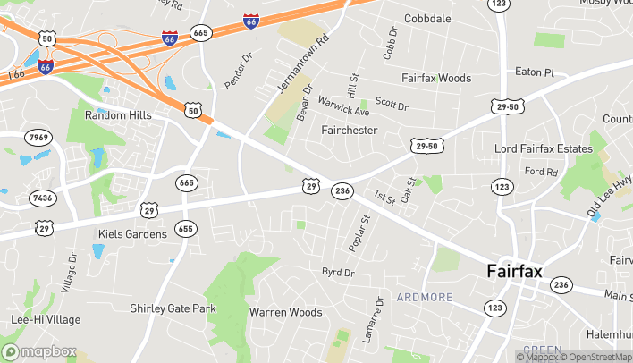 Map of 11015 Main St in Fairfax